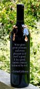 Wine Gives Great Pleasure Print by Renee Trenholm