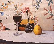 Daniel Montoya - Wine Glass and Pear and...