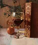 Daniel Montoya - Wine Glass and Red Book