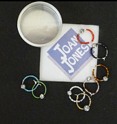 Featured Jewelry - Wine glass charms by Joan  Jones