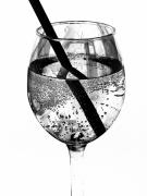 Fizz Prints - Wine Glass Fizz Print by Marion McCristall
