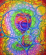 Wine Glass Pastels - Wine Glass by John Benko