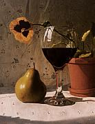 Daniel Montoya - Wine Glass Pear and Pansy