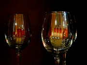 Wine Glasses Prints - Wine Glasses Print by Al Bourassa