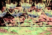 Wine Glasses Digital Art Prints - Wine Glasses Print by Will Borden