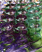 Wine Glasses Digital Art Prints - Wine Goblets Print by Will Borden