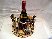 Wine Holder Art - Wine Holder by E  Kawina