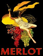 Merlot Prints - Wine Maid Merlot Poster Print by Jerry Schwehm