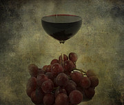 Canvas Wine Prints Framed Prints - Wine Makes me Fine Framed Print by Jerry Cordeiro