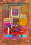White Grape Prints - Wine Print by Mary Ogle
