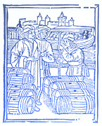 Vintner Framed Prints - Wine Merchant, Medieval Tradesmen Framed Print by Science Source