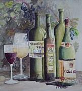 Vinegar Painting Framed Prints - Wine n vinegar Framed Print by W R  Hersom