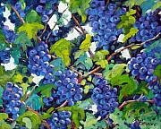 Pranke Paintings - Wine on the Vine by Richard T Pranke