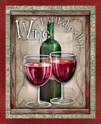 Bottled Digital Art Framed Prints - Wine Poetry Framed Print by Sharon Marcella Marston