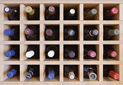 Rack Prints - Wine Rack Print by Jeremy Woodhouse