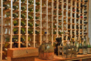 Fermentation Prints - Wine Rack Vineyard Fermentation   Print by David  Zanzinger