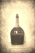 Wine Bottle Photography Posters - Wine Poster by Sophie Vigneault