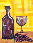 Wine Still Life 2 Print by Janice Gelona