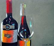 Wine Bottles Pastels - Wine Still Life by Will Sellers
