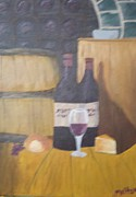 Tasting Framed Prints - Wine Tasting in the Cellar Framed Print by Linda Melton
