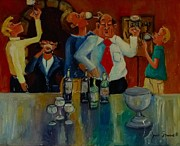 Caricature Painting Originals - Wine Tasting by James Scrivano