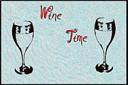 Wine Glasses Prints - Wine Time Print by Bill Cannon