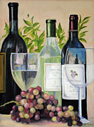 White Grapes Framed Prints - Wine Time Framed Print by Jost Houk