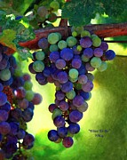 Blue Grapes Photos - Wine to Be Art by Patrick Witz