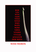 Wine Photography Photos - Wine Words by Jerry Taliaferro