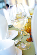 Restaurant Prints - Wineglass Print by Atiketta Sangasaeng
