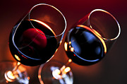 Fine Wine Photos - Wineglasses by Elena Elisseeva