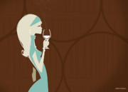 Pour Digital Art Posters - Winery Cyan Poster by Martin Laksman