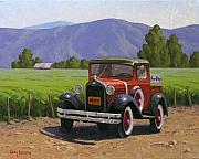 Vineyard Art Painting Posters - Winery Truck Poster by Cody DeLong