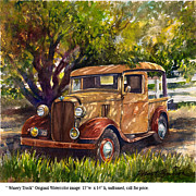 Delivery Truck Paintings - Winery Truck by Robert Benson