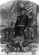 Portrait Of Old Man Posters - Winfield Scott, American Army General Poster by Photo Researchers