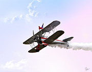 Stunt Flyer Prints - Wing Walker  Print by Endre Balogh