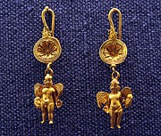Ancient Earrings Photos - Winged Erotes by Andonis Katanos