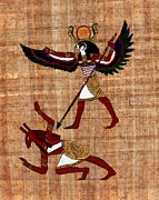 Horus Metal Prints - Winged Horus Defeating Set Metal Print by Pet Serrano