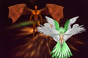 Atlantis Digital Art Originals - Winged Mates by Garry Staranchuk