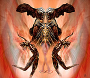 Surrealism Metal Prints - Winged Nike of Samothrace Revisted Metal Print by John Stephens