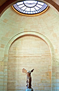 Winged Victory Of Samothrace Prints - Winged Victory of Samothrace Louvre Print by Loriannah Hespe