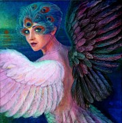 Peacock Paintings - Wings of Duality by Sue Halstenberg