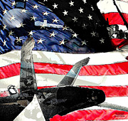 Wings Of Stars And Stripes Print by David L Thomas