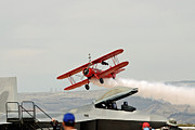 Take Over Posters - Wingwalker take-off 7850 Poster by David Mosby