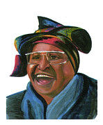 League Drawings Prints - Winnie Madikizela Mandela Print by Emmanuel Baliyanga