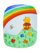 Art For Child Painting Framed Prints - Winnie The Pooh  Framed Print by Irina Sztukowski