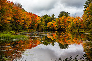 New Hampshire Fall Photos - Winnipesaukee River by Robert Clifford