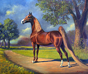 Saddlebred Posters - Winsdown Celebration Poster by Jeanne Newton Schoborg