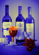 Wine Bottle Photography Posters - Winsome Wine Poster by Donald Davis