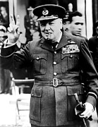 Military Uniform Metal Prints - Winston Churchill, 1961 Metal Print by Everett